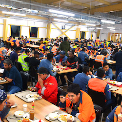New kitchen and dining room is currently serving more than 1,800 people over multiple shifts
