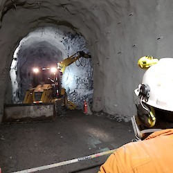 Total underground mine development has reached nearly
