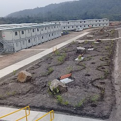 Construction camp nearing completion