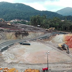Process plant excavation ahead of schedule
