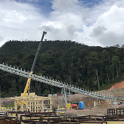 Coarse ore conveyor construction underway