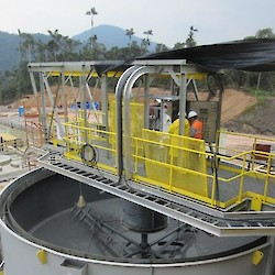 Gold concentrate thickener installation