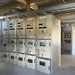 Grinding mill electrical motor control centre in place