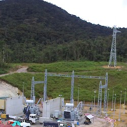 Bomboiza powerline will connect to site at the main Fruta del Norte power substation